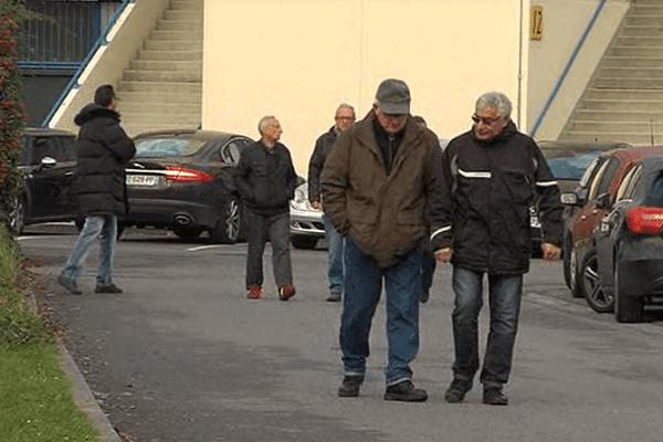 Des supporters aux abords du stade d'Ornano ce mercredi matin