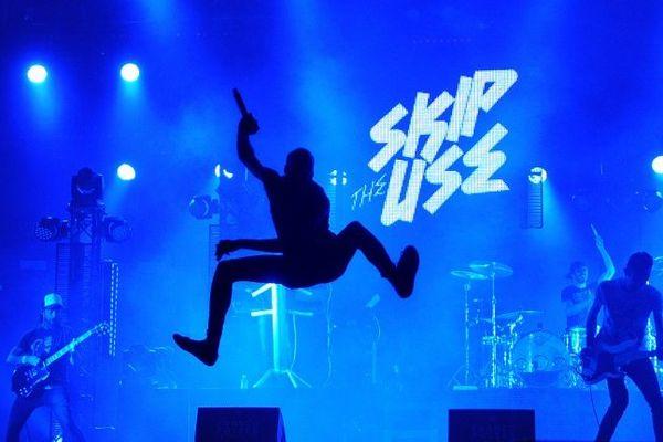 """Le groupe """"Skip The Use"""" en juillet 2013 aux Francofolies de La Rochelle."""
