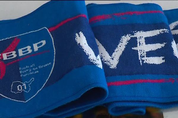 L'écharpe du FBBP01, le club de Bourg-en-Bresse/Péronnas.