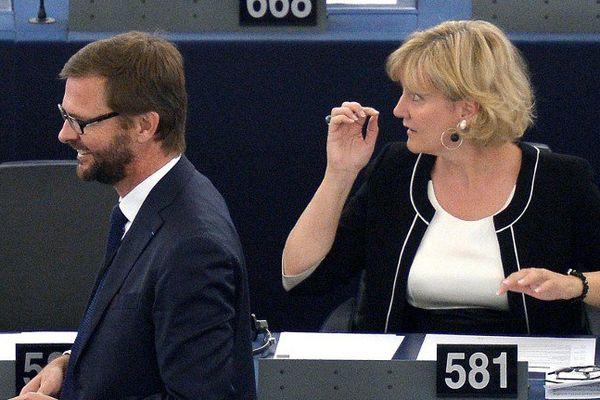 Nadine Morano au Parlement Européen à Strasbourg (67) [Archive, 1er juillet 2014]