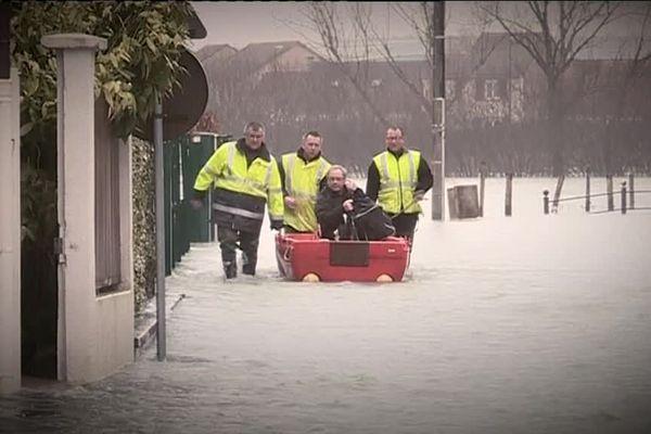 Des crues monumentales ont marqué l'hiver 2017-2018 à Bar-sur-Aube (Aube).