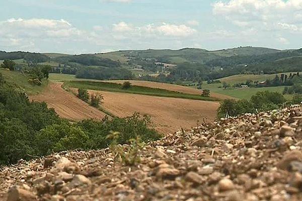 Payra-sur-l'Hers (Aude) - le Lauragais victime des intempéries - juin 2018.