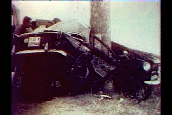 Jean-Claude Saint-Aubin et Dominique Kaydasch, sa petite amie, sont morts dans un accident sur la RN 7 en 1964