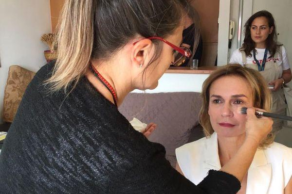 Sandrine Bonnaire avant son interview pour France 3