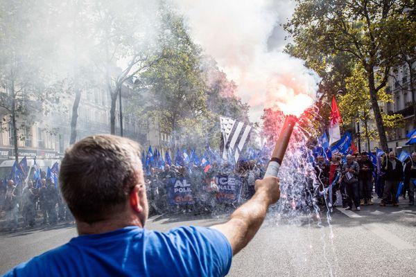 Les policiers sont déjà descendus dans la rue, le 2 octobre dernier, pour dénoncer leurs conditions de travail.