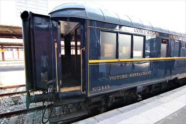 L'Orient Express à la gare de Lille Flandres, à l'occasion des Journées Européennes du Patrimoine 2021.