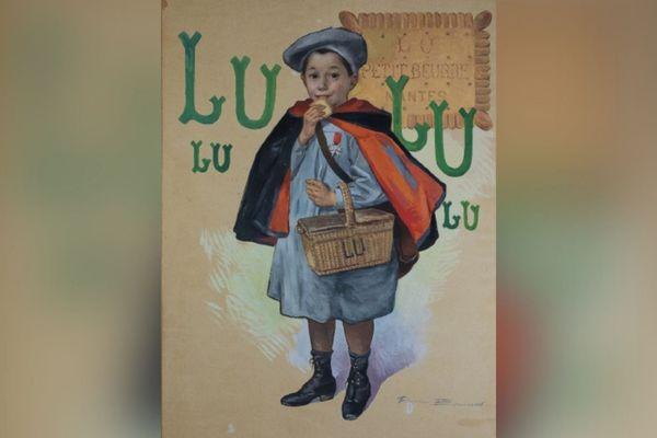 L'affiche originale du Petit Ecolier de LU qui sera vendue aux enchères le 26 juin.