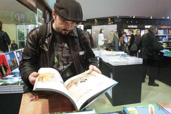 Au festival international de la bande dessinée, à Angoulême, en 2013