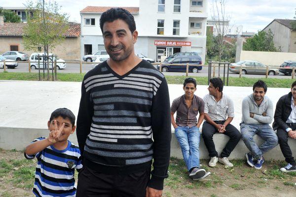 Quelques uns des réfugiés syriens installés aux Izards