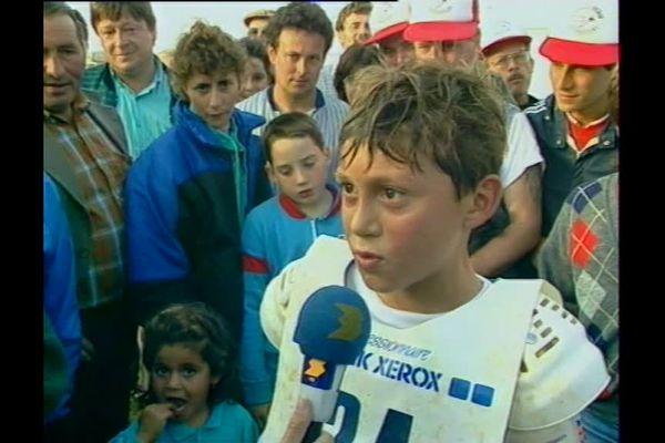 Mickaël Pichon, déjà sur les antennes de France 3 à l'âge de 12 ans, en 1988.
