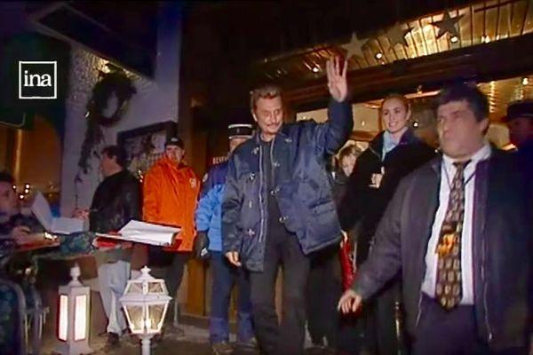 Johnny Hallyday au festival de Gerardmer en 1999.