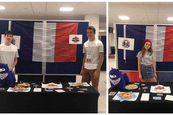 Emma, Guillaume et Maximilien, seuls représentants français à la World Scholar's Cup à La Haye.