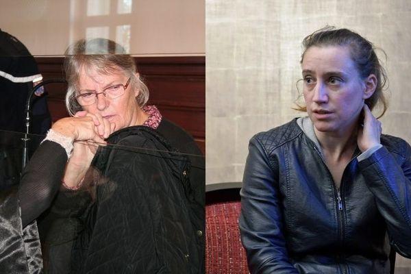 Jacqueline Sauvage à gauche, Valérie Bacot à droite