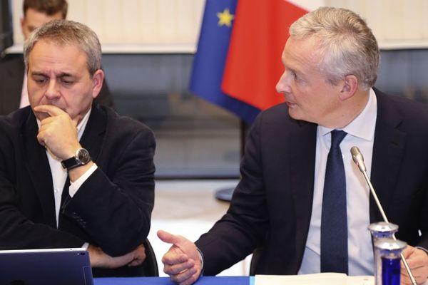 Xavier Bertrand et Bruno Le Maire, le 10 décembre 2018.
