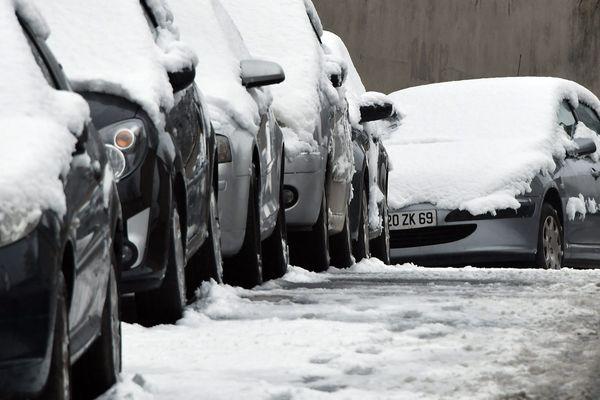 Neige à Lyon en janvier 2019