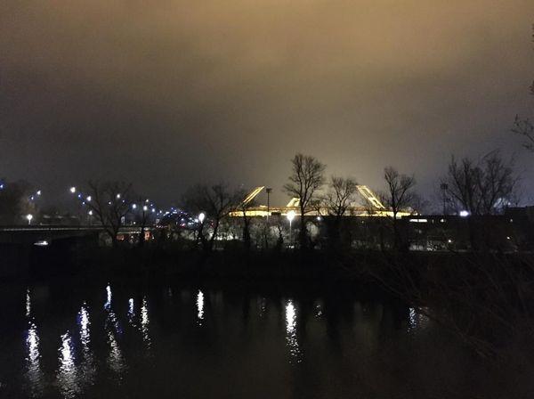 Le Stadium, vu des berges de la Garonne, ce lundi 11 janvier