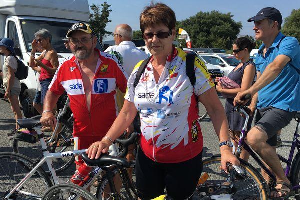 Robert et Chantal fans du tour de France