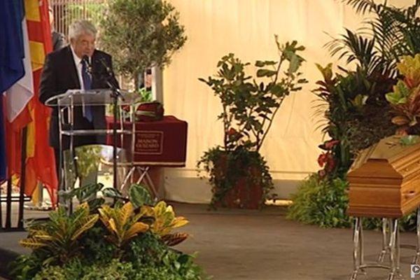 Jean-Claude Gayssot aux obsèques de Christian Bourquin à Millas le 29 août 2014