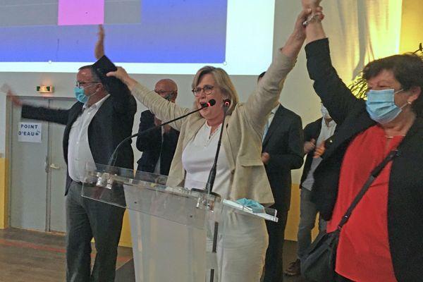 Marie-Agnès Poussier-Winsback le dimanche 28 juin 2020 au soir du second tour des élections municipales de Fécamp