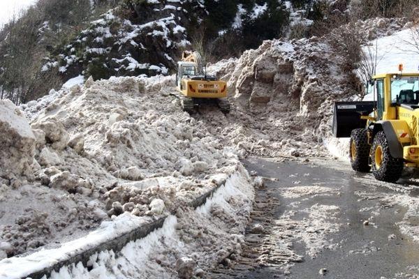 Les travaux de dégagement de la neige lundi 28 janvier
