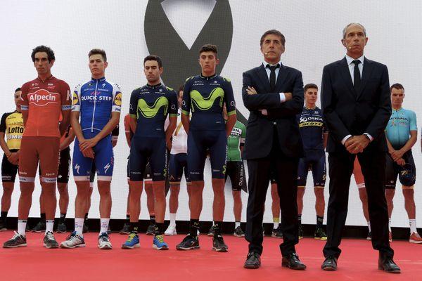 La Vuelta observe une minute de silence en mémoire des victimes des attentats en Catalogne - 18 août 2017
