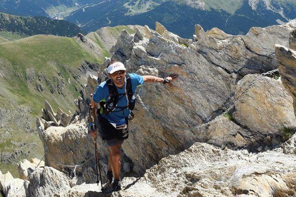 Fabrice Huré, lors d'un ultra trail à Andorre