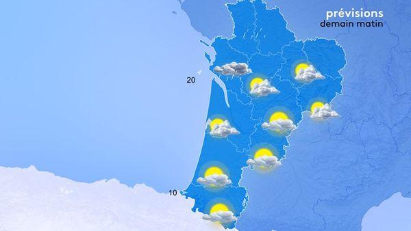 Prévisions météo du 27 juillet au matin