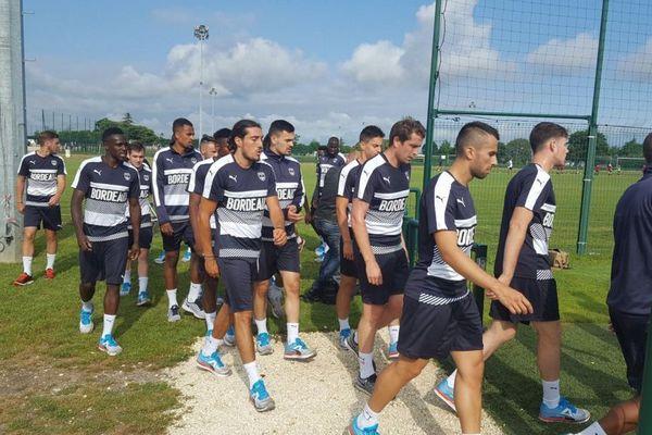 Les Girondins de Bordeaux à l'entraînement le 1er juillet 2016