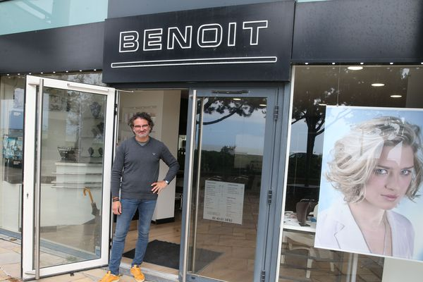Benoit Pecoul, coiffeur à la Baule. Ouvrir la porte de son salon lui fait un bien fou, vivement le lundi 11 mai, à 8h45