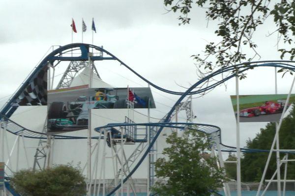 Le Coaster Formule 1 du Parc Saint-Paul, à l'arrêt depuis le 4 juillet, le temps de l'enquête