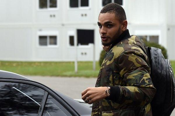 Le défenseur latéral gauche de Monaco, Layvin Kurzawa à Clairefontaine le 10 novembre.