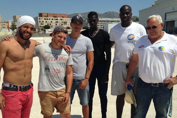 Aladin, Noé, Nil, Cissoko, Mendy et Armand s'activent au parc Chanot