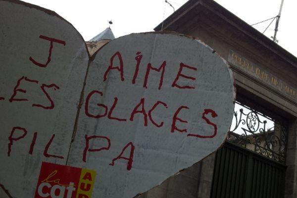 L'un des slogans de la manifestation à Carcassonne