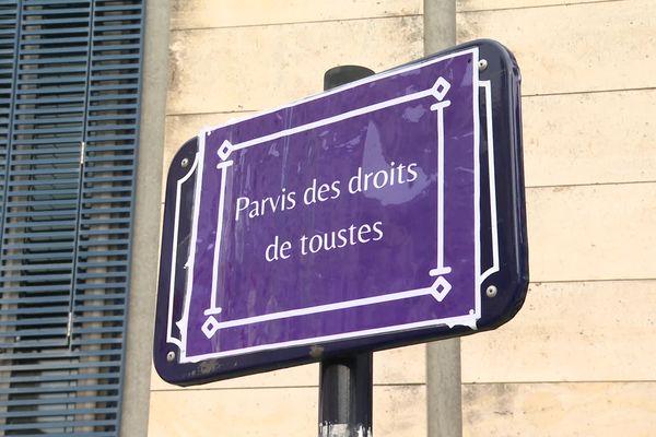 Revendication affichée ce 8 mars à Bordeaux