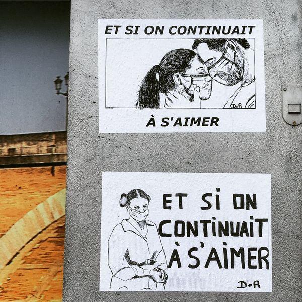 L'artiste Daniel R. avait déjà fait parler de lui sur les murs de Bergerac au printemps 2020.