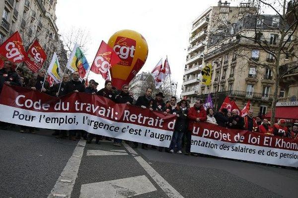 La manifestation contre la loi Travail du jeudi 10 mars 2016