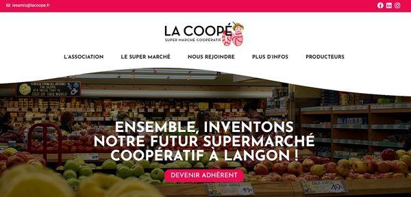 le site internet sur lequel s'inscrire pour adhérer au projet coopératif de la Coopé
