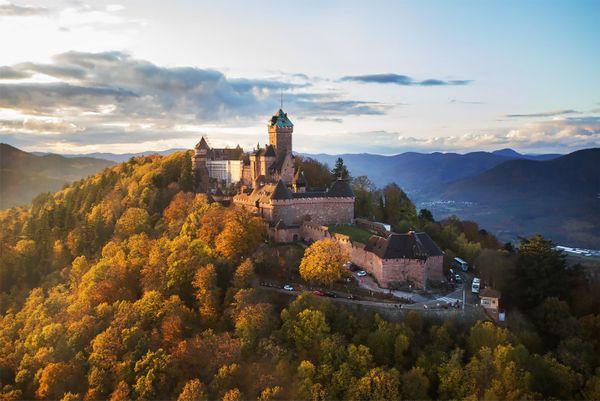 Le château du Haut-Koenigsbourg.
