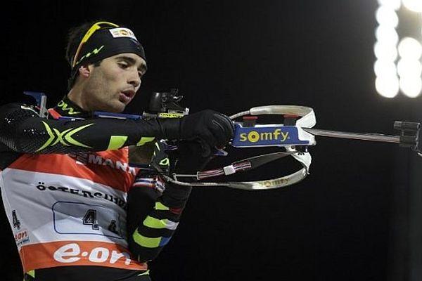 Ostersund (Suède) - Martin Fourcade à la coupe du monde de biathlon - 24 novembre 2013.