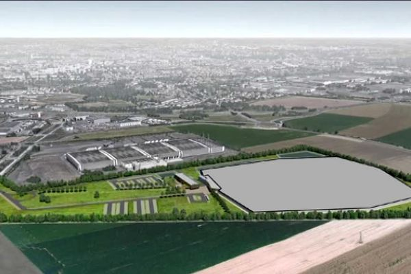 Le terrain choisi pour accueillir la nouvelle maison d'arrêt est situé sur la commune d'Ifs près du périphérique sud de Caen