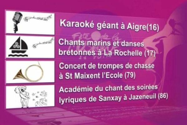 Faites de la musique! concerts et karaoké, quatre choix en région