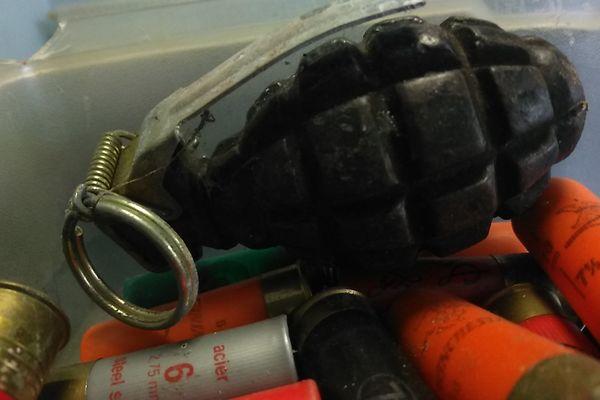 Un habitant de La Motte-Servolex a retrouvé cette grenade sur son terrain.