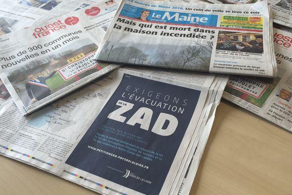 L'encart publicitaire dans un des titres de la Presse Quotidienne Régionale à l''origine de la polémique