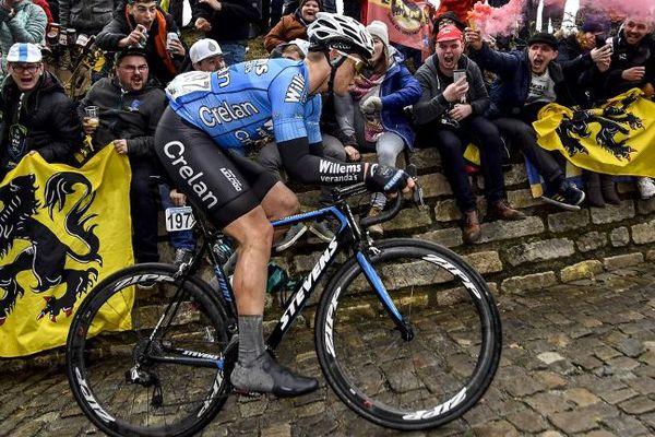 Le belge Michael Goolaerts en Veranda's Willems lors du tour des Flandres