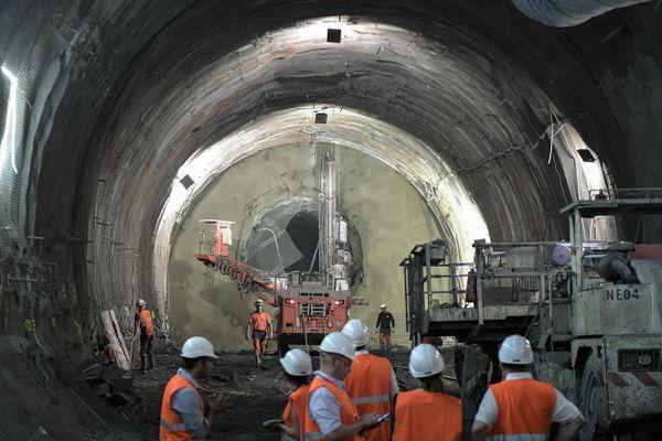 Sur le chantier du Lyon-Turin en juin 2019.