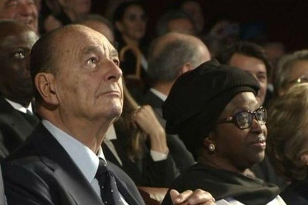 Jacques Chirac le 21 novembre 2013 à Paris pour la remise du prix de sa Fondation pour la prévention des conflits.