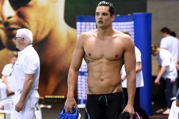 Florent Manaudou n'est pas parvenu à se qualifier pour les JO sur le 100 m nage libre lors des championnats de France de natation à Montpellier - 1er avril 2016