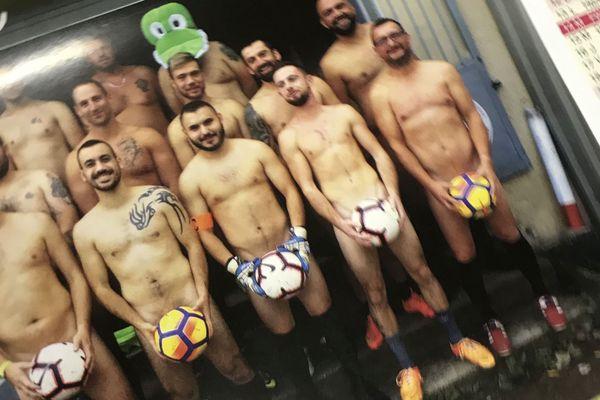Extrait du calendrier 2020 de l'équipe de football de Portieux, dans les Vosges.