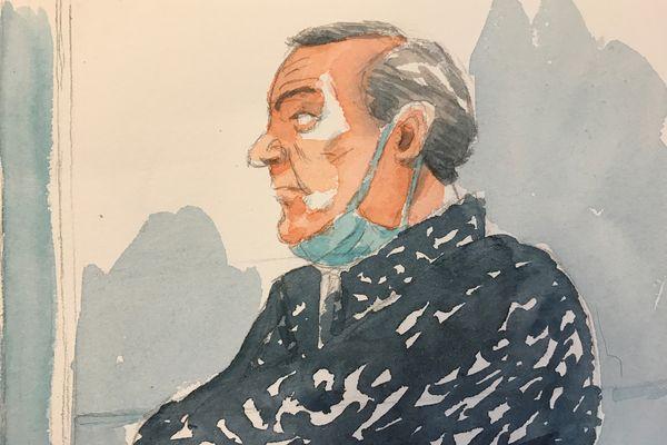 Philippe Gillet, dans le box des accusés des assises de la Marne.
