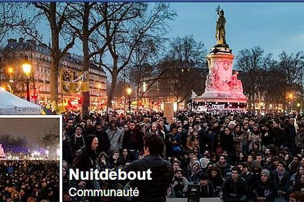 La photo de couverture de la page Facebook du collectif NuitDebout